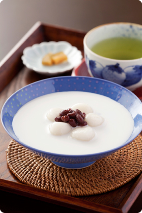 ココナッツミルクぜんざい写真